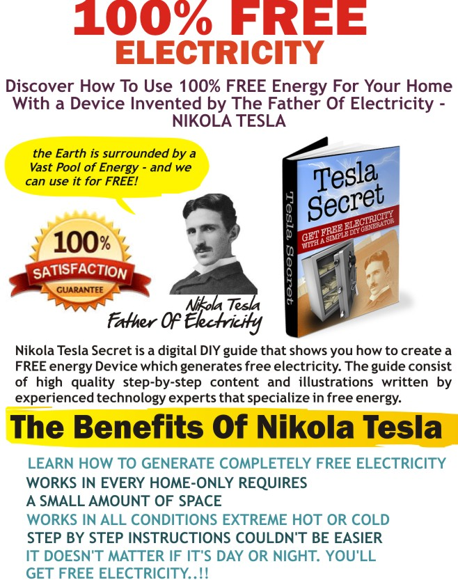 How To Get Free Electricity | Tesla Free Energy Generator | Tesla Free ...